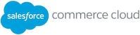 Salesforce Commerce Cloud Logo with blue cloud.